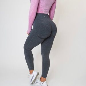 NVGTN black speckled seamless leggings nwt